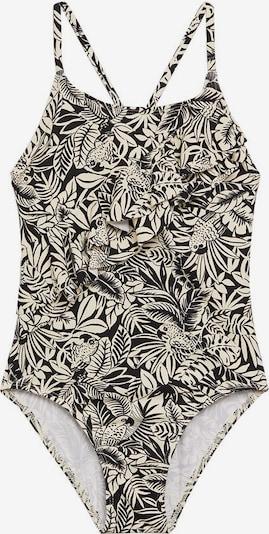 MANGO KIDS Badeanzug in schwarz / weiß, Produktansicht