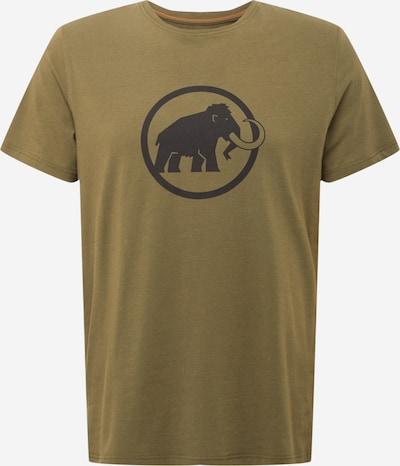 MAMMUT Functioneel shirt in de kleur Olijfgroen / Zwart, Productweergave