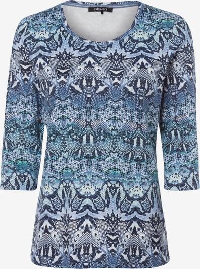 Olsen Shirt mit Snakeprint in rauchblau, Produktansicht