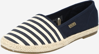 TOM TAILOR Espadrilles in navy / weiß, Produktansicht