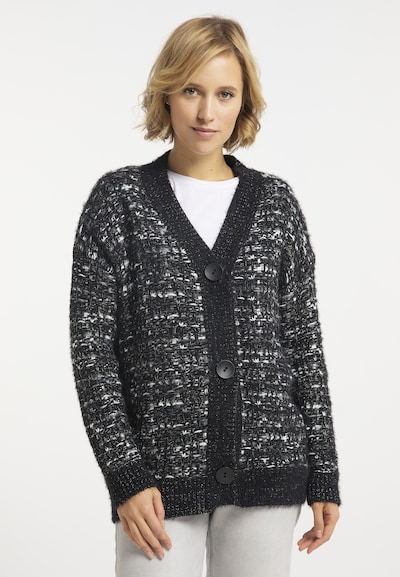 usha BLUE LABEL Strickjacke in schwarz / weiß, Modelansicht