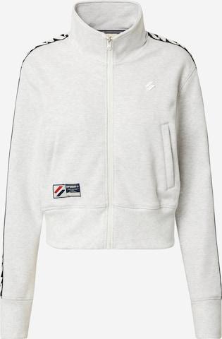 Superdry Zip-Up Hoodie 'Code' in Grey