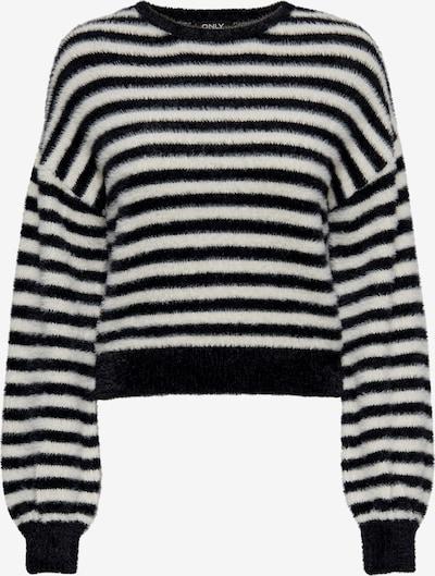 ONLY Pullover 'Piumo' in schwarz / weiß, Produktansicht