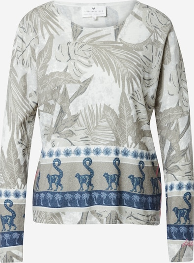 LIEBLINGSSTÜCK Pullover in navy / grau / hellgrau / weiß, Produktansicht