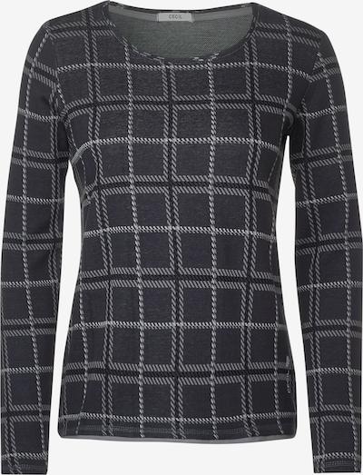 CECIL Shirt in basaltgrau / hellgrau, Produktansicht