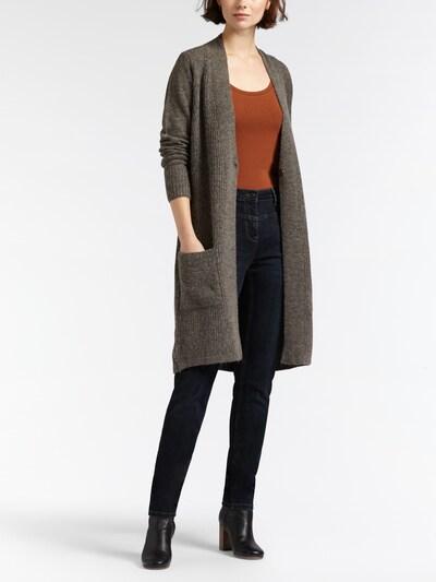 Sandwich Strickjacke in grau, Modelansicht