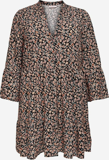 ONLY Carmakoma Robe-chemise en vert / menthe / orange / rose / noir, Vue avec produit