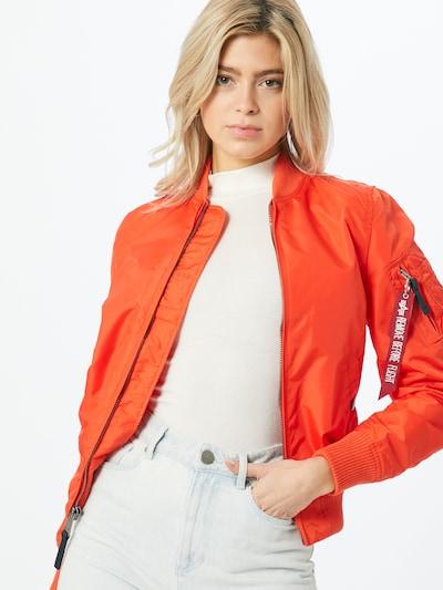 ALPHA INDUSTRIES Prehodna jakna   oranžno rdeča barva, Prikaz modela
