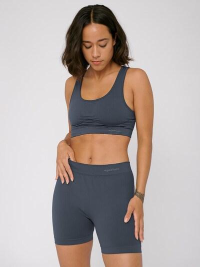 Organic Basics Hose ' Silver Tech Yoga Shorts ' in dunkelgrau, Produktansicht