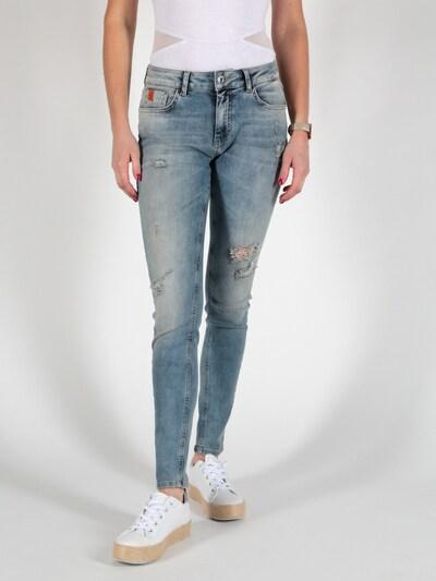 Miracle of Denim Jeans in blau / braun, Modelansicht