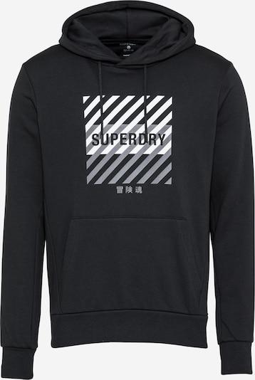 Superdry Urheilullinen collegetakki värissä harmaa / musta / valkoinen, Tuotenäkymä