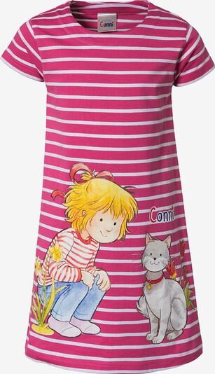 Conni Kleid in pink / weiß, Produktansicht
