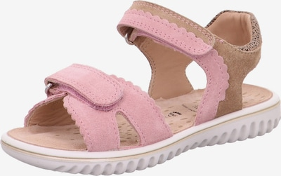SUPERFIT Sandale in dunkelbeige / rosa, Produktansicht