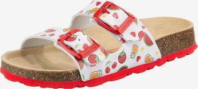 SUPERFIT Vaļējas kurpes dzeltens / gaiši zaļš / rozīgs / balts, Preces skats