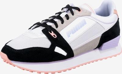 PUMA Zemie brīvā laika apavi 'Mile Rider Power Play', krāsa - bēšs / rožkrāsas / melns / balts, Preces skats