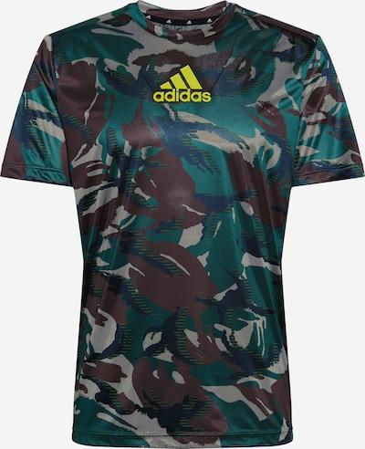 ADIDAS PERFORMANCE Koszulka funkcyjna 'Designed To Move' w kolorze beżowy / brązowy / żółty / khakim, Podgląd produktu