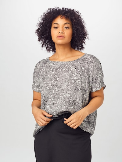 KAFFE CURVE Bluse 'Paige' in schwarz / weiß, Modelansicht