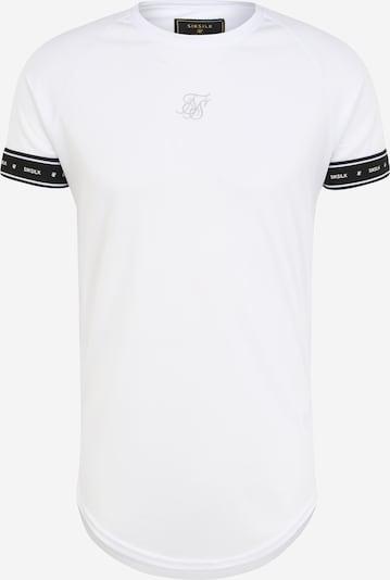 SikSilk Тениска в сиво / черно / бяло, Преглед на продукта