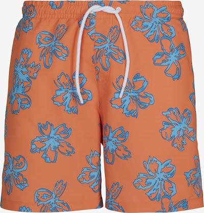 Urban Classics Zwemshorts in de kleur Smoky blue / Mandarijn, Productweergave