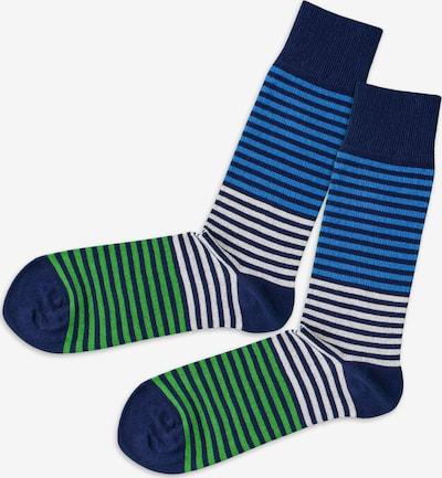 DillySocks Sokken in de kleur Blauw / Grasgroen / Wit, Productweergave