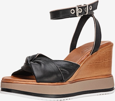 INUOVO Sandales en marron / noir, Vue avec produit