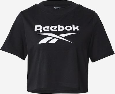 Reebok Sport Shirt in schwarz / weiß, Produktansicht