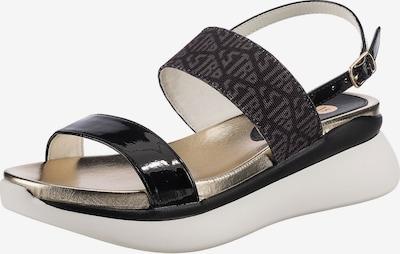 LA STRADA Sandale in schwarz / weiß, Produktansicht