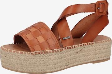 SHABBIES AMSTERDAM Strap Sandals in Brown