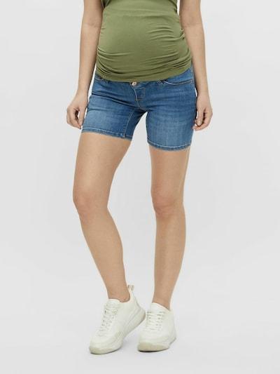 MAMALICIOUS Shorts 'Della' in blue denim / grau, Modelansicht
