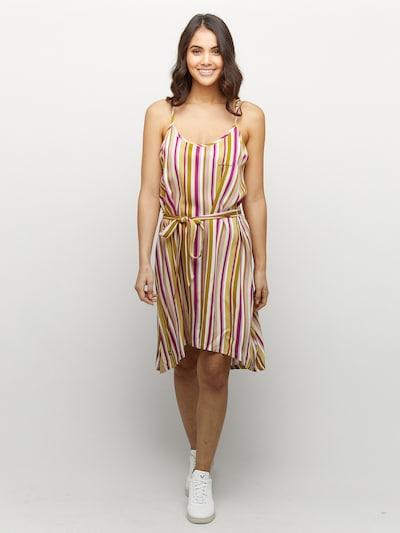 mazine Striped Dress ' Pinetta ' in grün / pink / offwhite, Modelansicht