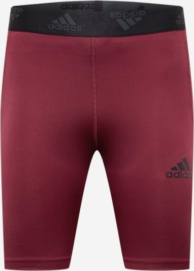 ADIDAS PERFORMANCE Sporthose in rot / schwarz, Produktansicht