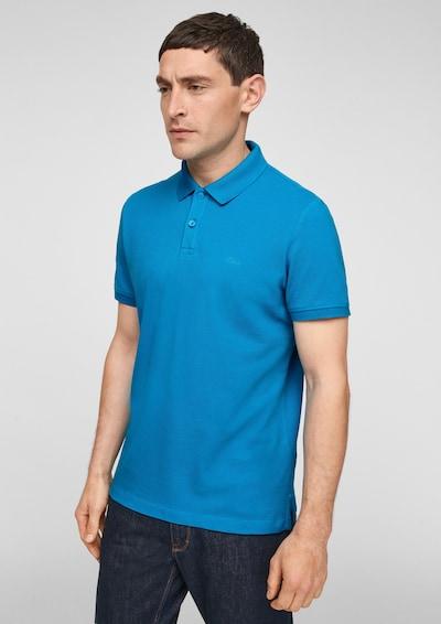 s.Oliver Shirt in de kleur Royal blue/koningsblauw: Vooraanzicht