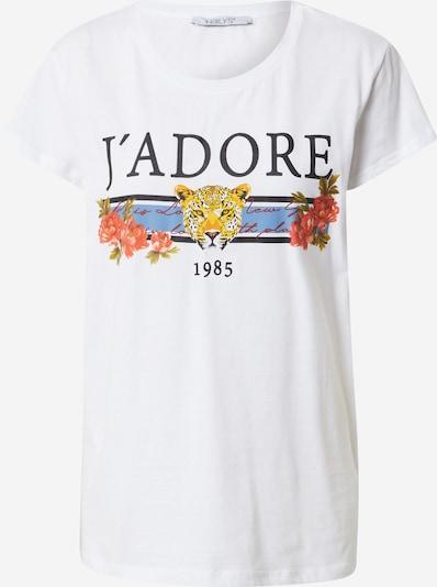Hailys Тениска 'Nora' в пъстро / бяло, Преглед на продукта