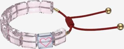 Brățară 'Letra' Swarovski pe albastru deschis / auriu / roz / roșu, Vizualizare produs