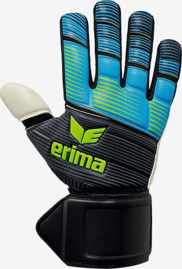 ERIMA Handschuh in aqua / neongrün / schwarz / weiß, Produktansicht
