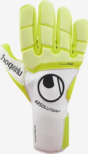 UHLSPORT Sporthandschuhe in neongelb / schwarz / weiß, Produktansicht