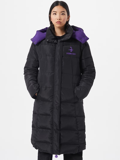 VIERVIER Oversized Coat 'Josefin' in schwarz, Modelansicht