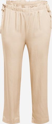 Pantalon 'Lizz' Vero Moda Curve en beige