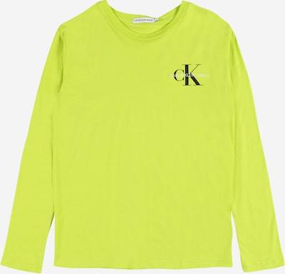 Calvin Klein Jeans T-shirt i neongrön / svart / vit, Produktvy