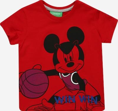 UNITED COLORS OF BENETTON Camiseta en azul / cyclam / rojo / negro / blanco, Vista del producto