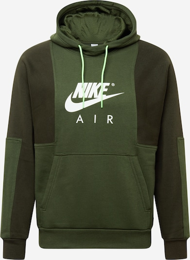 Nike Sportswear Sportisks džemperis, krāsa - zaļš / tumši zaļš / balts, Preces skats