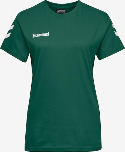 Hummel T-shirt fonctionnel en émeraude / blanc, Vue avec produit