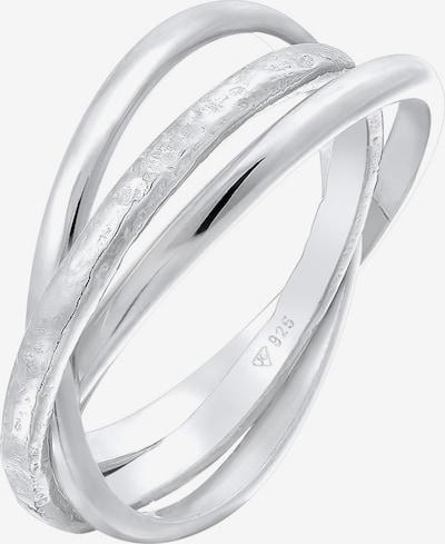 ELLI Ring Ring Set, Textured in silber, Produktansicht
