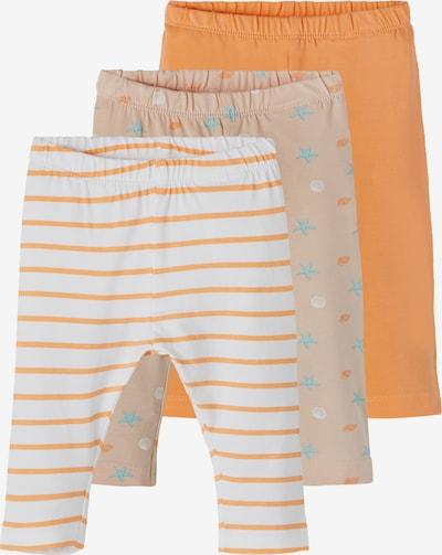 NAME IT Leggings 'Hadia' in türkis / orange / pfirsich / weiß, Produktansicht