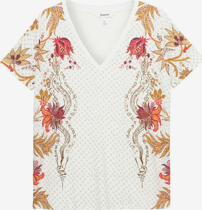 Desigual Shirt 'PRAGA' in de kleur Goudgeel / Rood / Wit, Productweergave