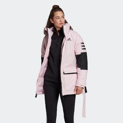 ADIDAS PERFORMANCE Daunenjacke 'Utilitas' in pink / schwarz: Frontalansicht