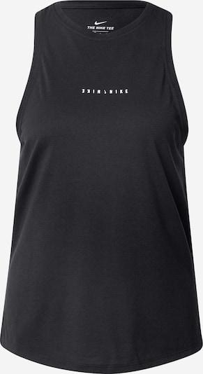 NIKE Sporttop in de kleur Zwart gemêleerd / Wit, Productweergave