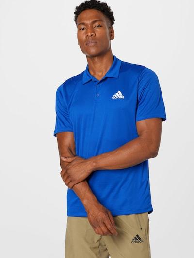 ADIDAS PERFORMANCE Функционална тениска в кралско синьо / бяло: Изглед отпред