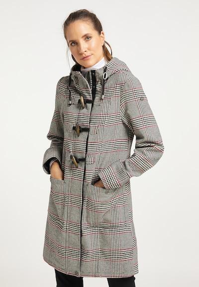 DreiMaster Vintage Wintermantel in de kleur Grijs / Rood / Zwart, Modelweergave