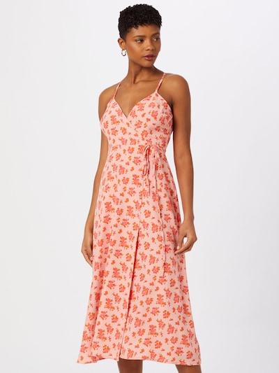Fashion Union Kleid 'SWOON' in orange / rosa / altrosa, Modelansicht